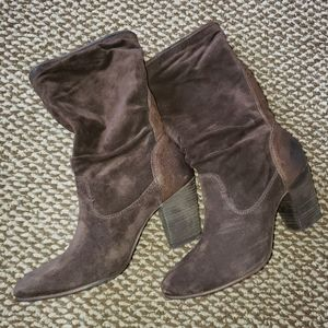 Johnston & Murphy Brown Suede Boots Size 7